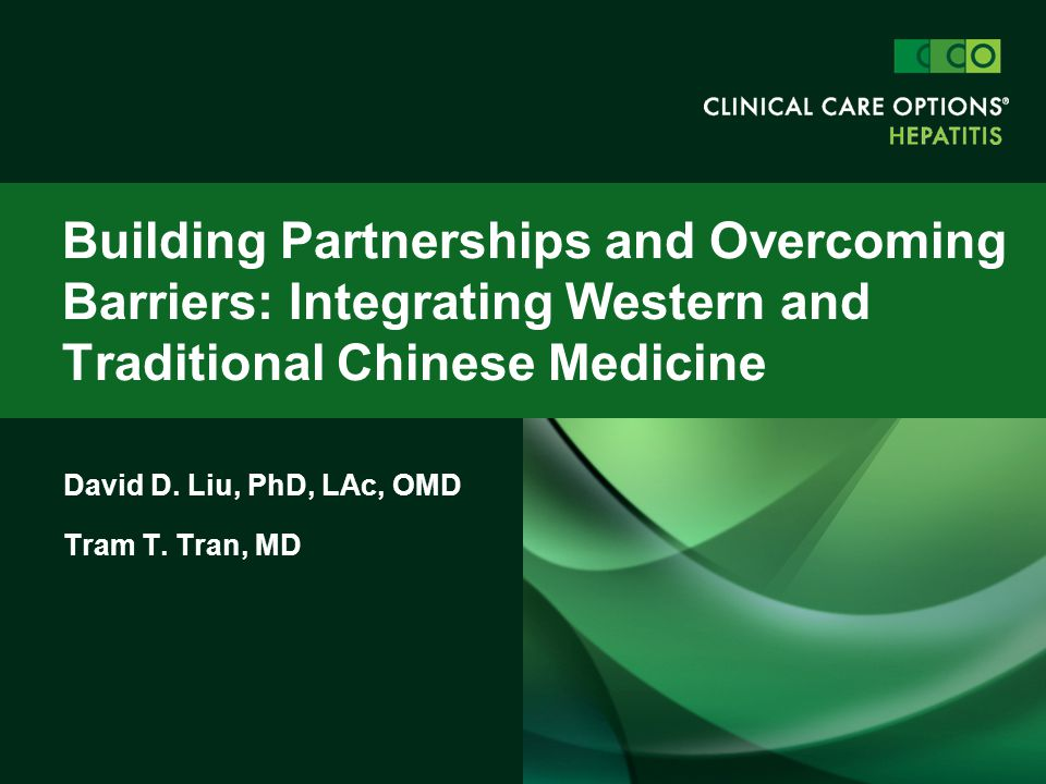 David D. Liu, PhD, LAc, OMD Tram T. Tran, MD