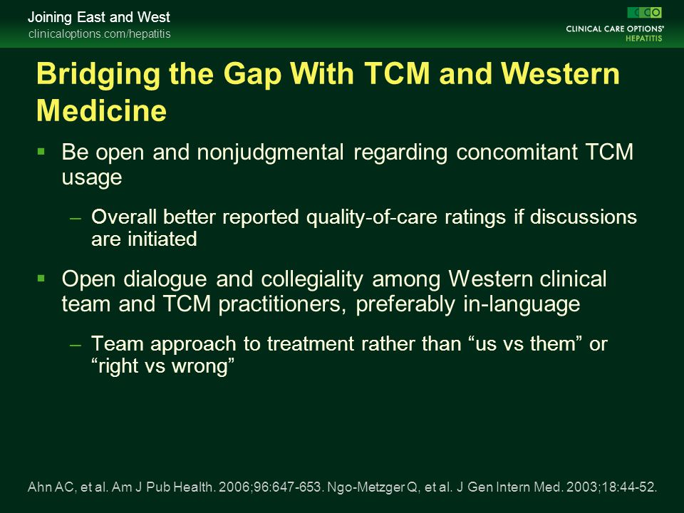 Bridging the Gap With TCM and Western Medicine