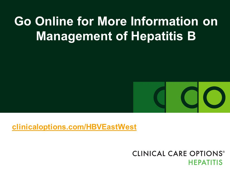 Go Online for More Information on Management of Hepatitis B
