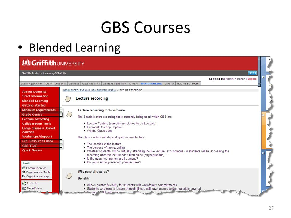 GBS Courses Blended Learning