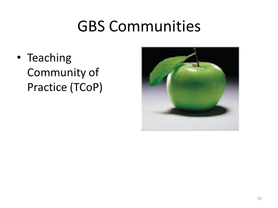 GBS Communities Teaching Community of Practice (TCoP)