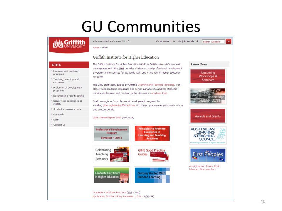 GU Communities