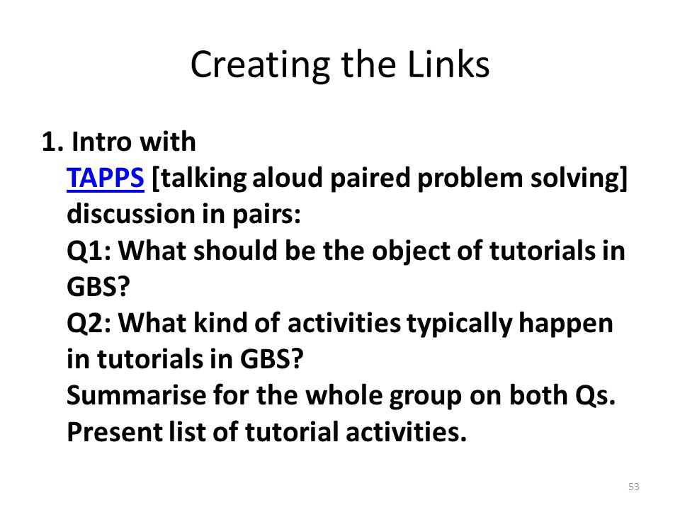 Creating the Links