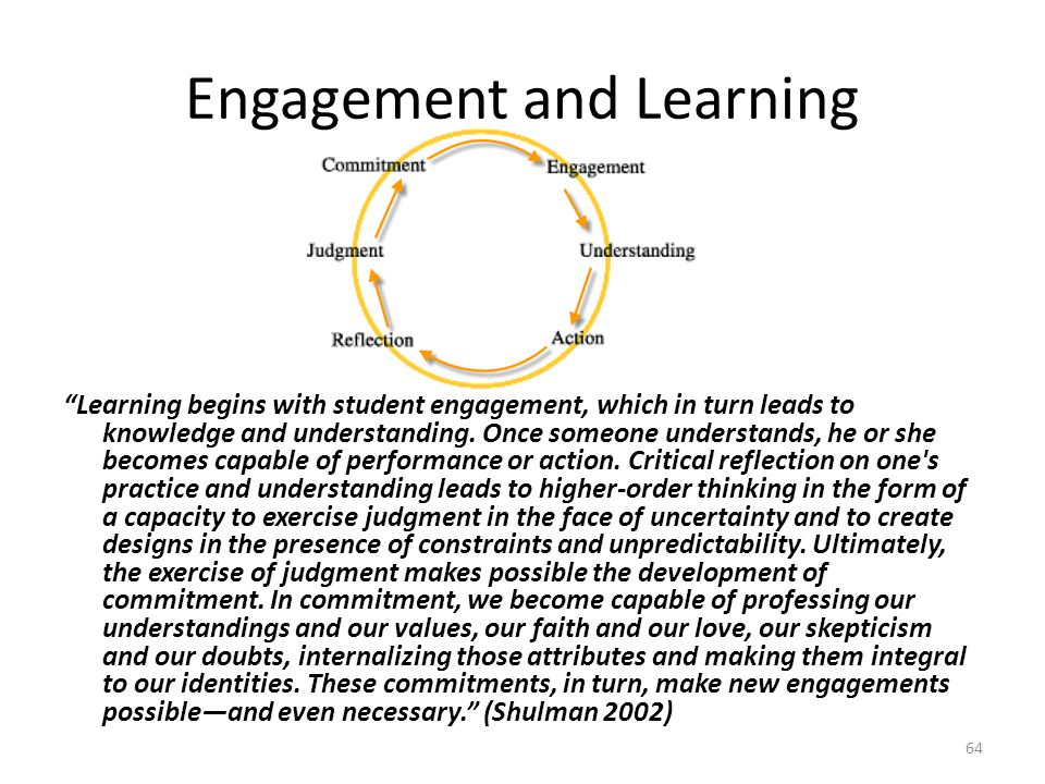 Engagement and Learning