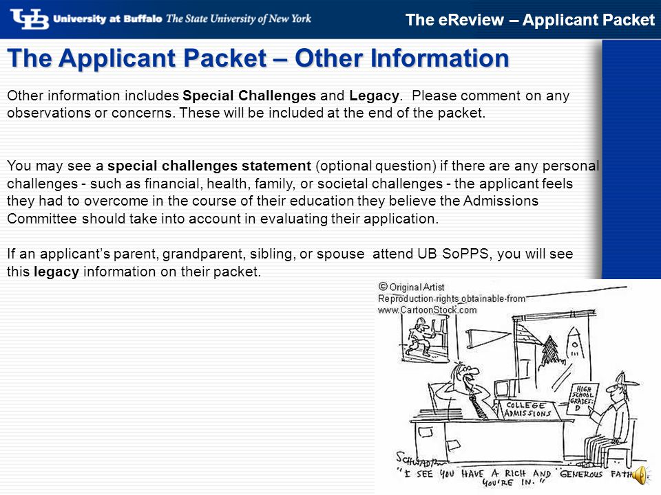 The Applicant Packet – Other Information
