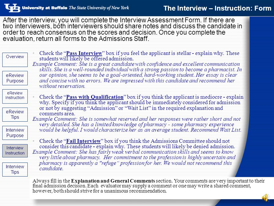 admissions ereview amp interview update ppt download