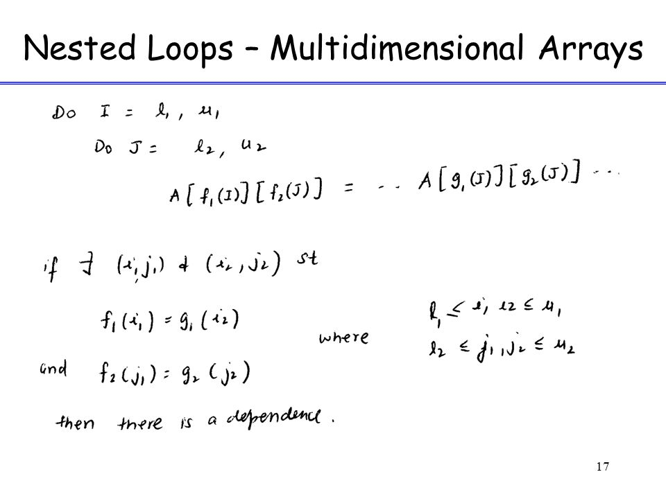 Nested Loops – Multidimensional Arrays