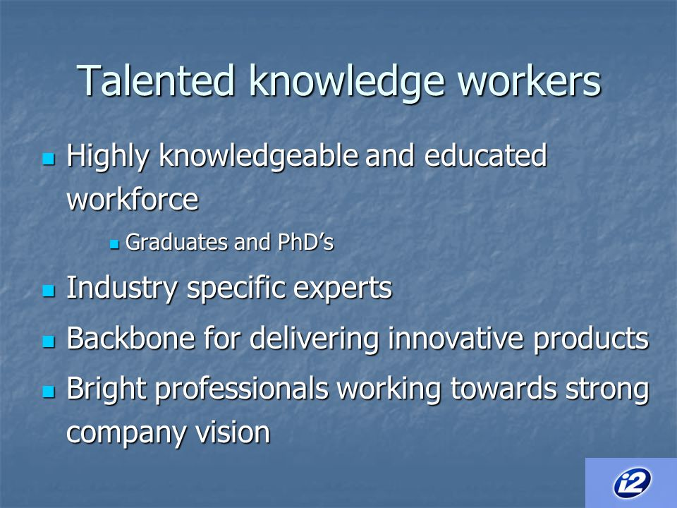 Talented knowledge workers