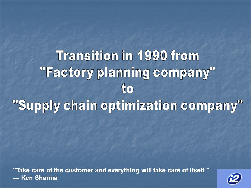 Factory planning company to Supply chain optimization company