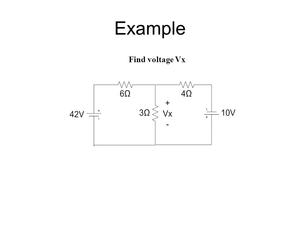 Example Find voltage Vx