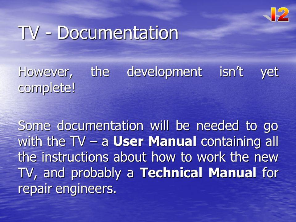 TV - Documentation I2 However, the development isn't yet complete!