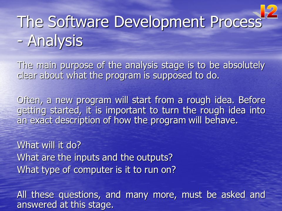 The Software Development Process - Analysis
