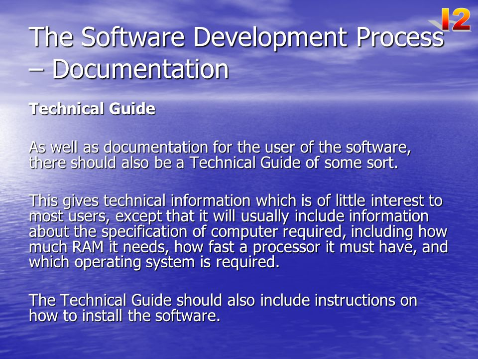 The Software Development Process – Documentation