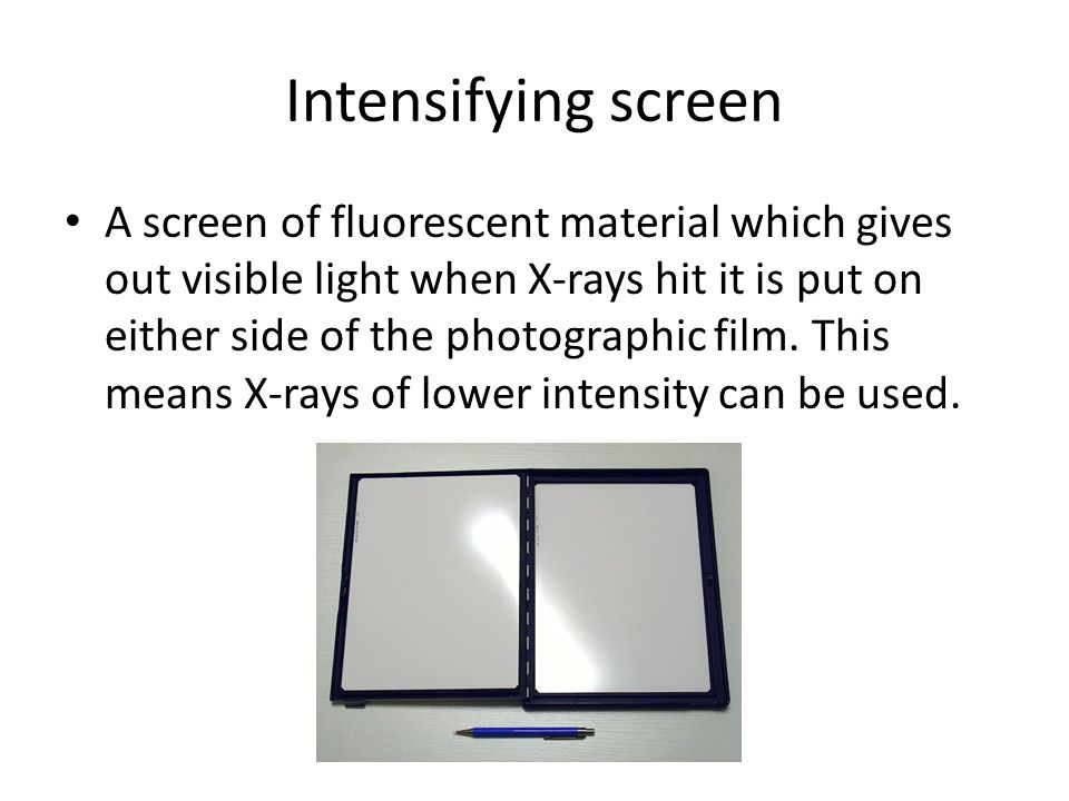 Intensifying screen