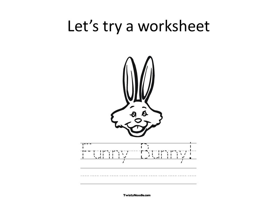 Let's try a worksheet