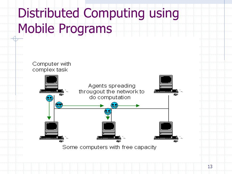 Distributed Computing using Mobile Programs