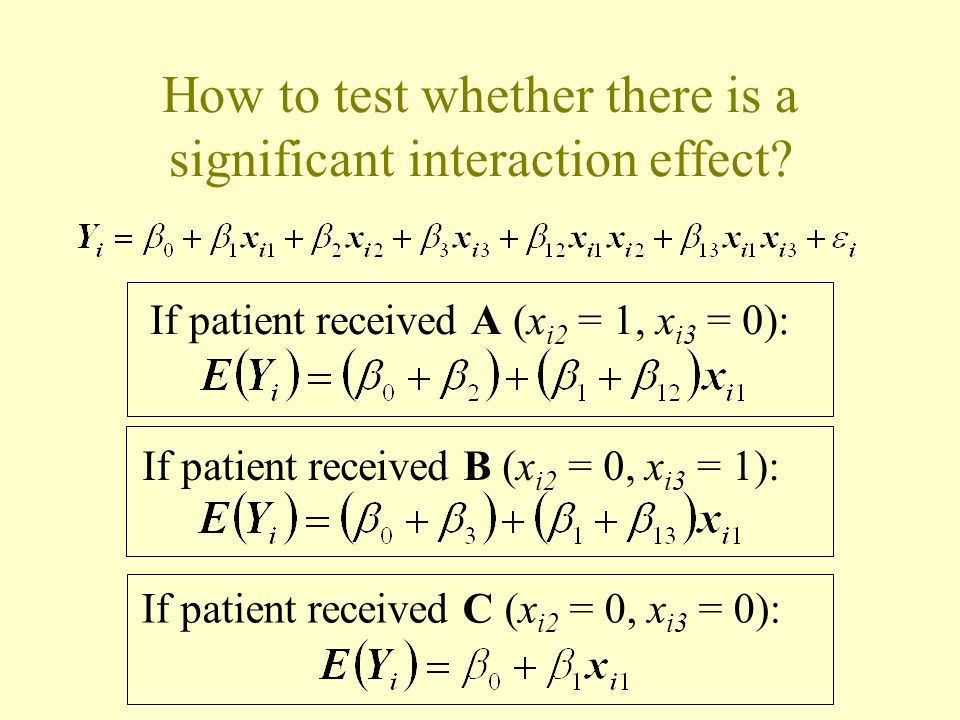 How to test whether there is a significant interaction effect