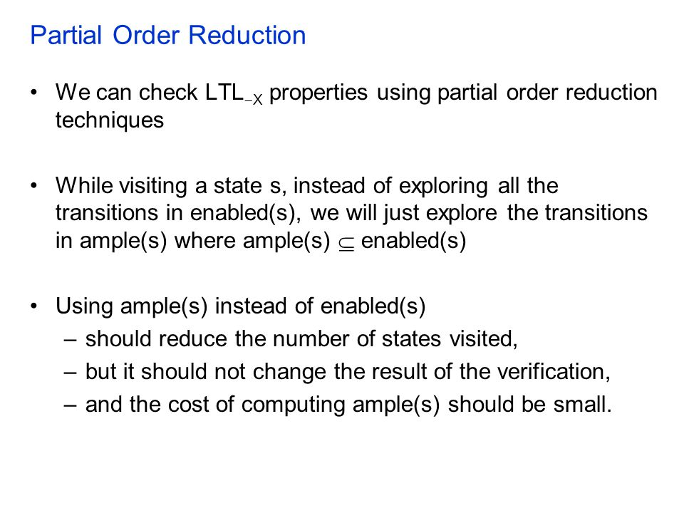 Partial Order Reduction