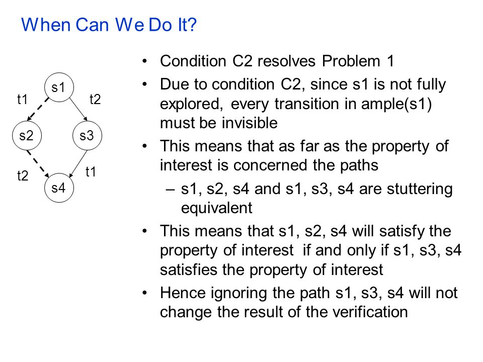 When Can We Do It Condition C2 resolves Problem 1