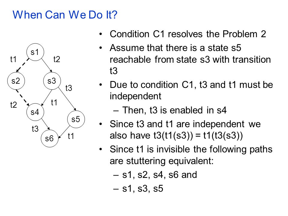 When Can We Do It Condition C1 resolves the Problem 2