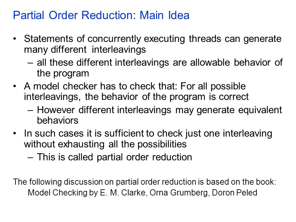 Partial Order Reduction: Main Idea