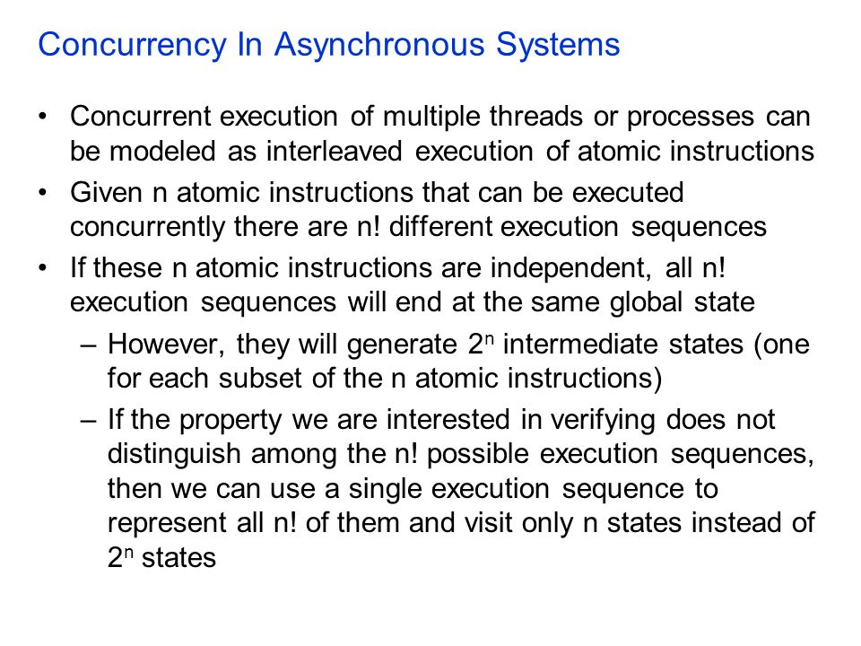 Concurrency In Asynchronous Systems