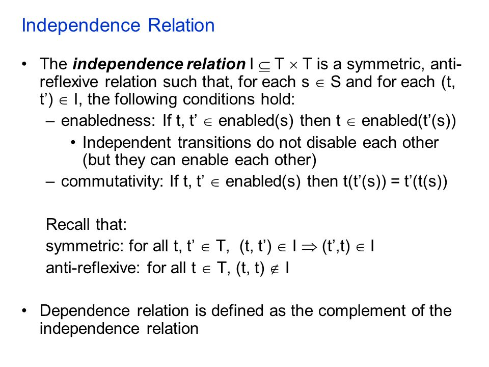 Independence Relation
