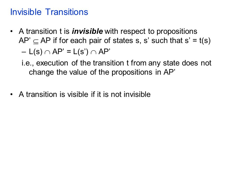 Invisible Transitions