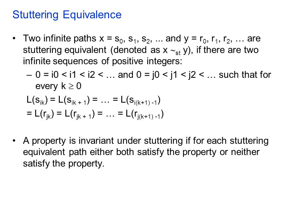 Stuttering Equivalence