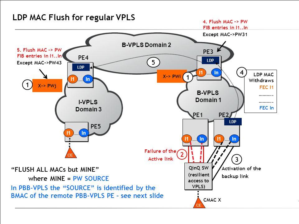 LDP MAC Flush for regular VPLS