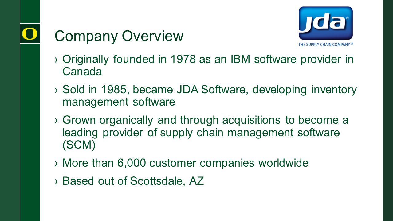 Company Overview Originally founded in 1978 as an IBM software provider in Canada.