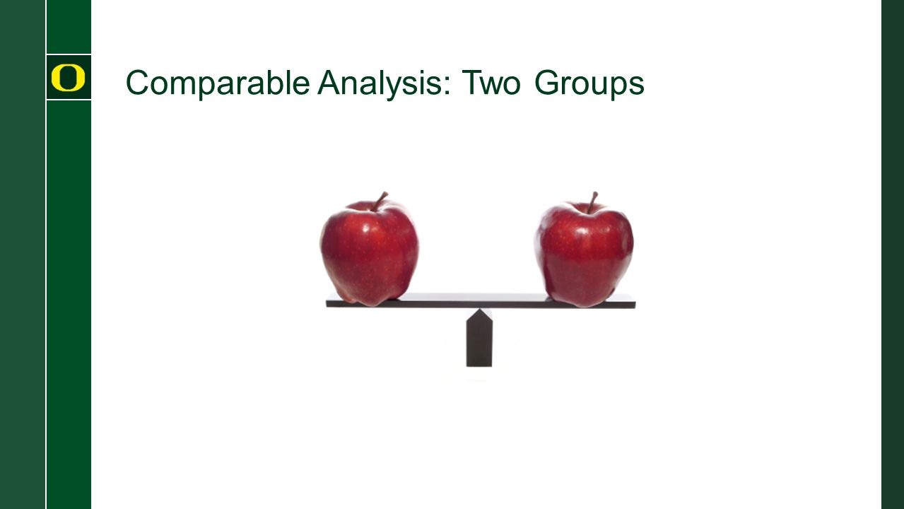 Comparable Analysis: Two Groups