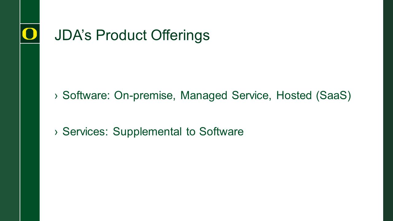 JDA's Product Offerings