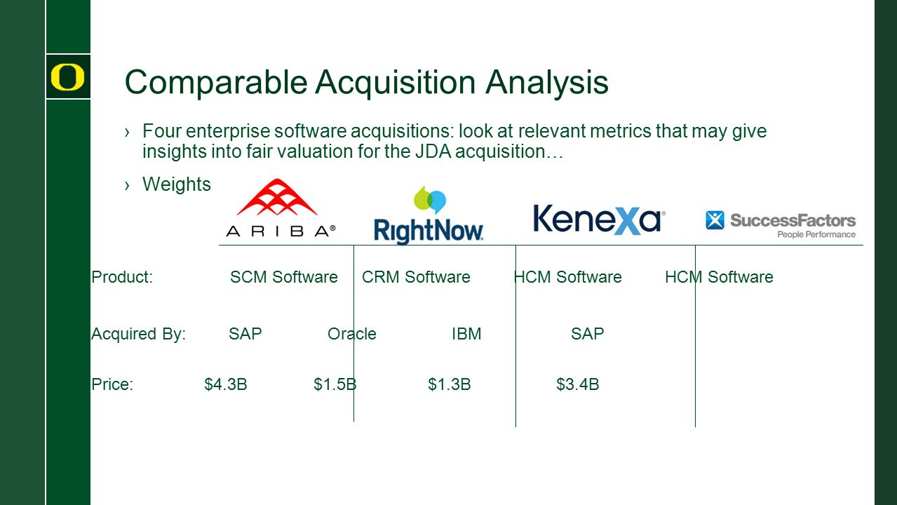 Comparable Acquisition Analysis