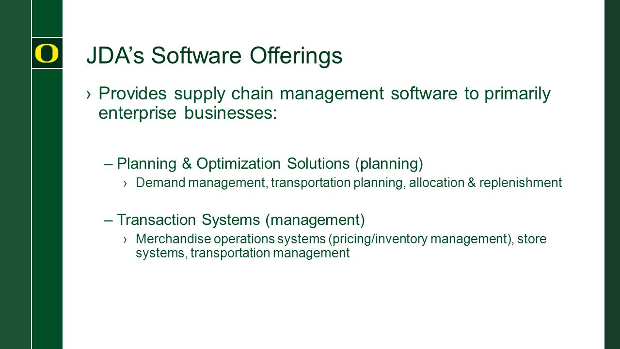 JDA's Software Offerings