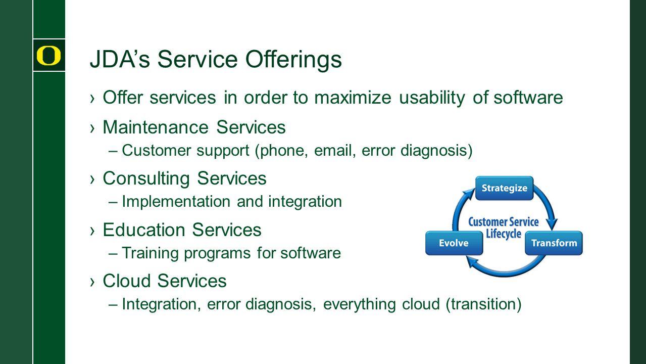 JDA's Service Offerings