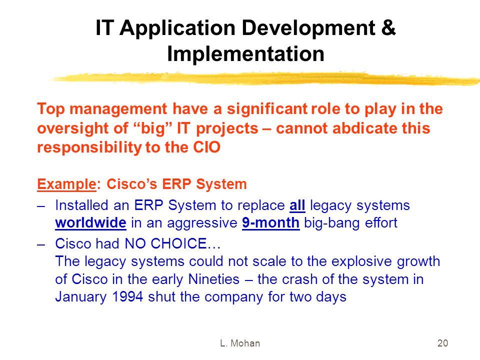 IT Application Development & Implementation