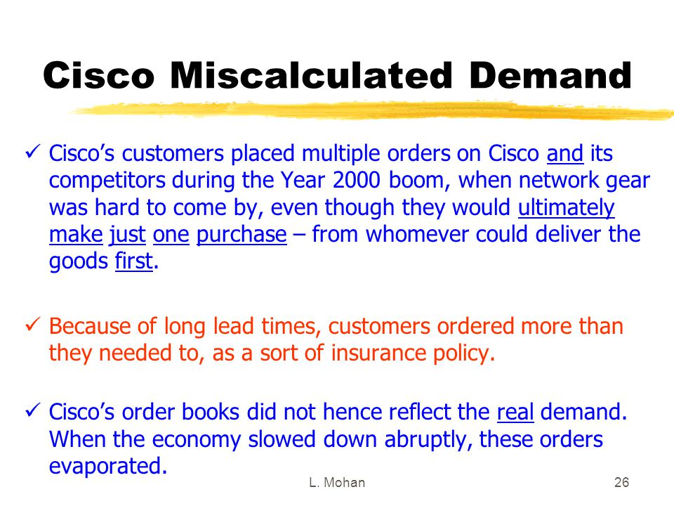 Cisco Miscalculated Demand