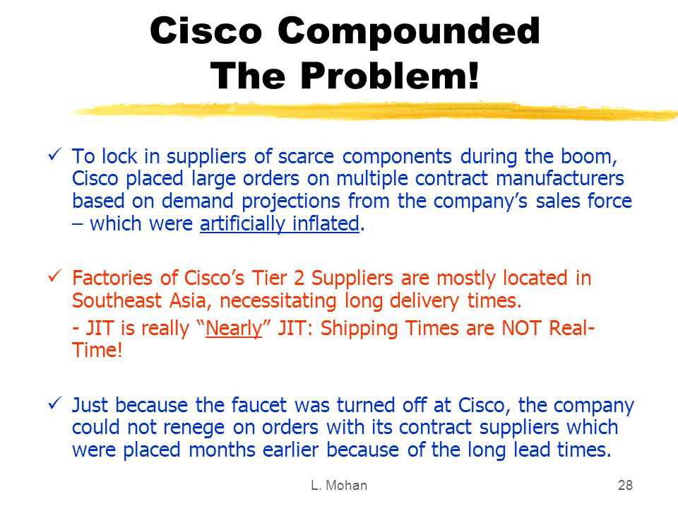 Cisco Compounded The Problem!