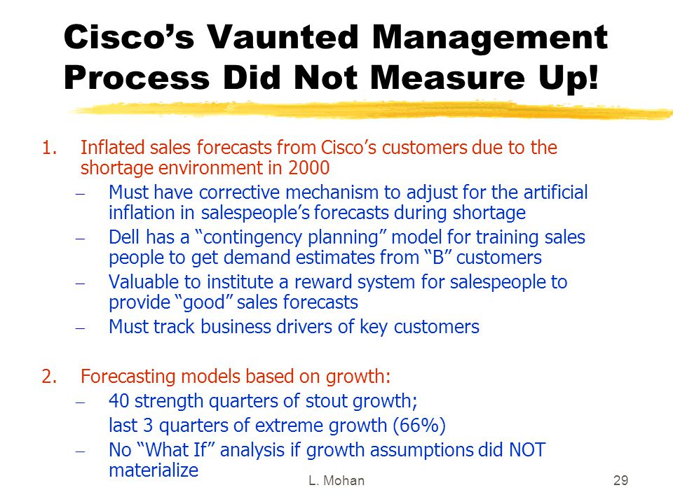 Cisco's Vaunted Management Process Did Not Measure Up!
