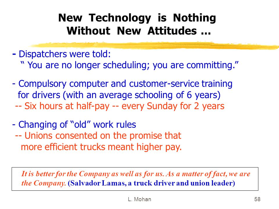 New Technology is Nothing Without New Attitudes ...