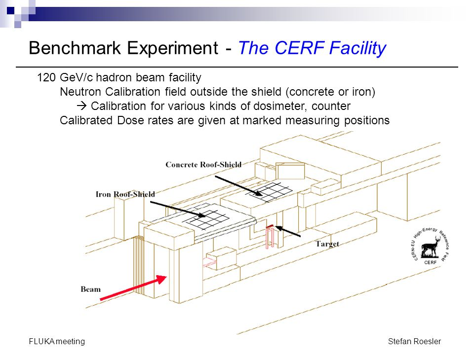 Benchmark Experiment - The CERF Facility