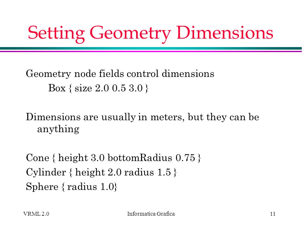 Setting Geometry Dimensions