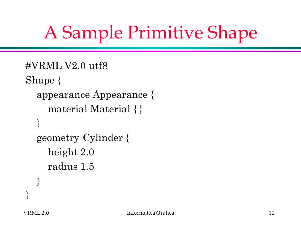 A Sample Primitive Shape