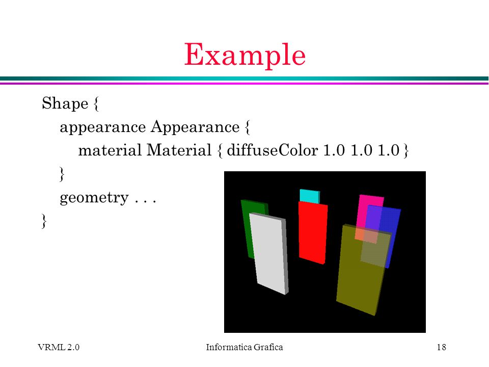 Example Shape { appearance Appearance {