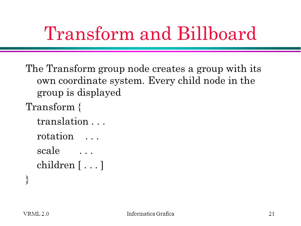 Transform and Billboard
