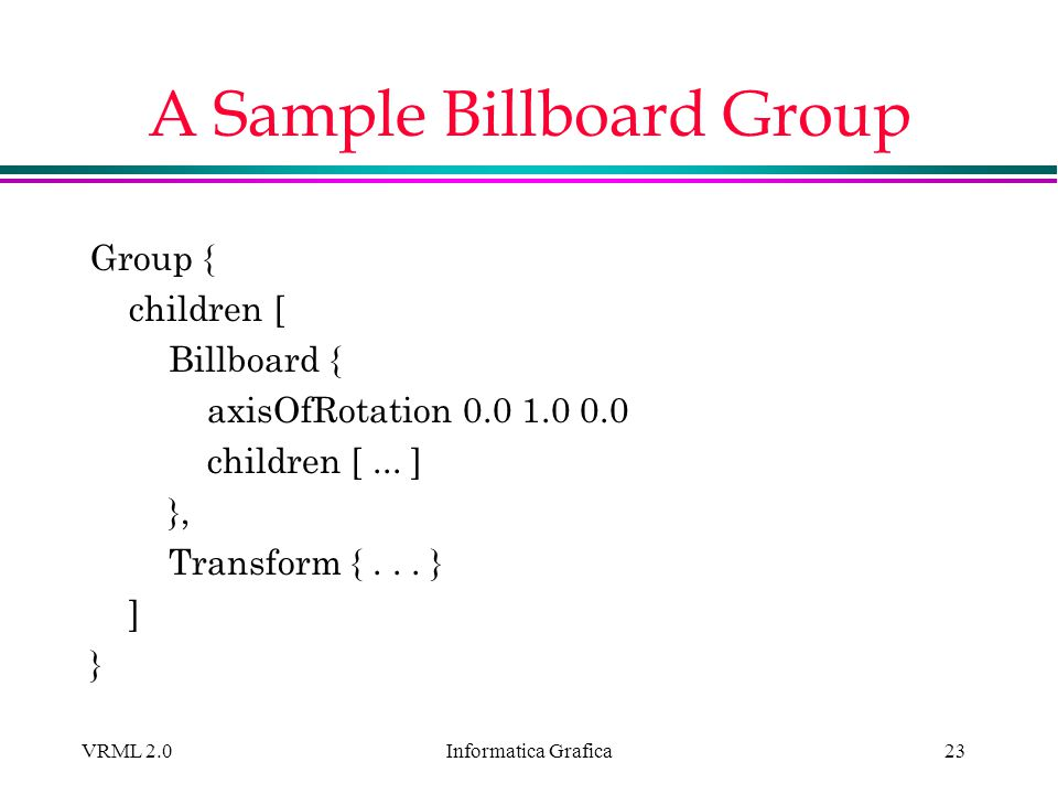 A Sample Billboard Group