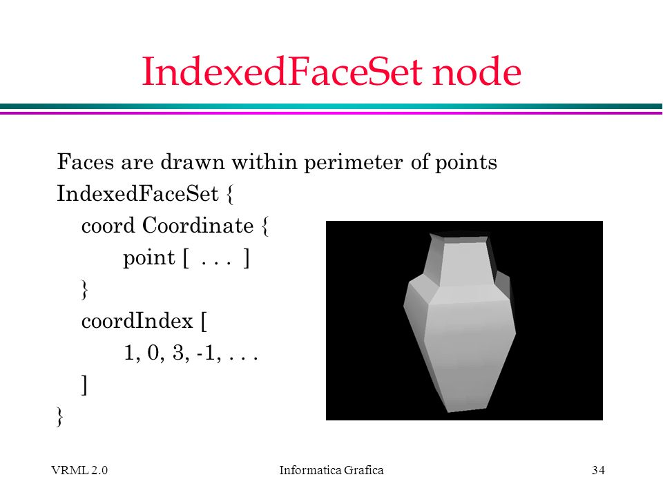 IndexedFaceSet node Faces are drawn within perimeter of points