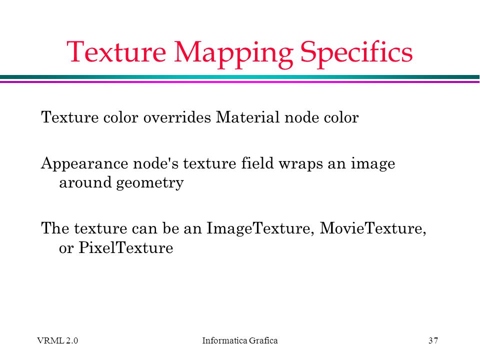 Texture Mapping Specifics