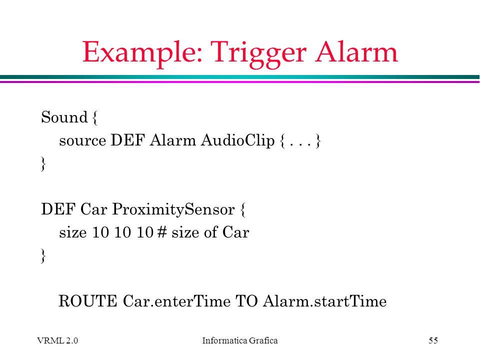 Example: Trigger Alarm